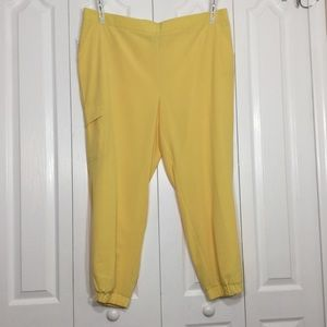 NWT DB Sunday yellow pants size 20